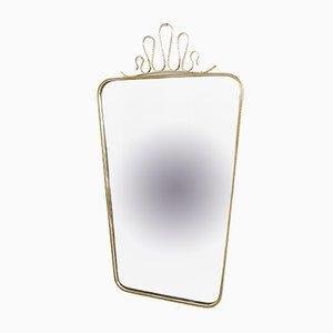 Specchio in ottone, anni '50