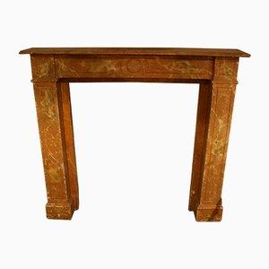 Mensola da camino in legno, metà XIX secolo
