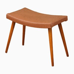 Curved Skai Footstool, 1960s