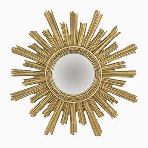 Mid-Century Spiegel mit Rahmen in Sonnen-Optik, 1960er