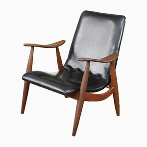 Vintage Flexi-Back Armchair by Louis Van Teeffelen, 1960s