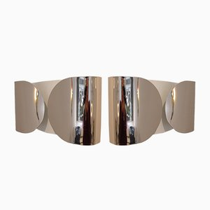 Vintage Foglio Wall Lamps by Afra & Tobia Scarpa for Flos, Set of 2