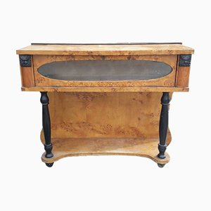 Italian Art Deco Briar & Poplar Wood Console Table