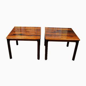 Tables d'Appoint en Palissandre de Mobelfabrikken Toften, Danemark, 1960s, Set de 2