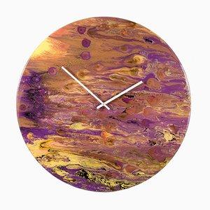 Extra Große moderne Uhr aus Glas mit Beleuchtung von Craig Anthony für Reformations, 2019