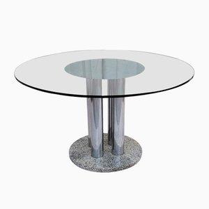 Round Vintage Italian Table, 1970s