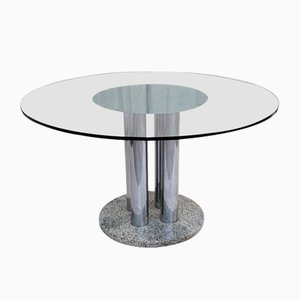 Table Vintage Ronde, Italie, 1970s