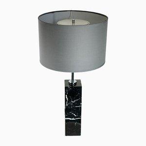 Lampada da tavolo vintage in marmo e acciaio di Florence Bassett Knoll per Knoll International, anni '70