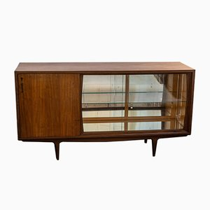 Mid-Century Wood & Glass Sideboard from Olaio, 1950s