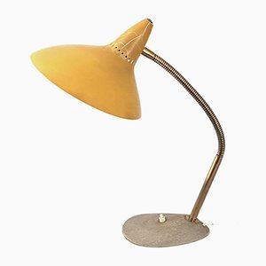 Mid-Century Steel and Brass Table Lamp, 1950s