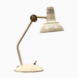 Vintage White Articulated Desk Lamp