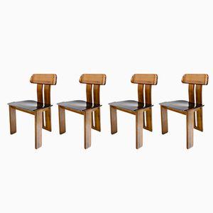 Esszimmerstühle von Tobia & Afra Scarpa für Maxalto, 1970er, 4er Set