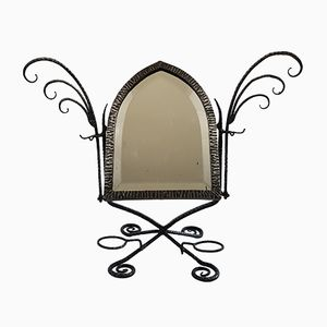 French Wrought Iron Table Mirror, 1920s