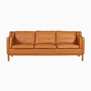Sofá de tres plazas modelo 195 danés vintage de Mogens Hansen