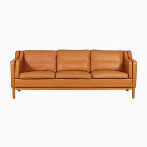 Vintage Danish Model 195 Three-Seater Sofa by Mogens Hansen