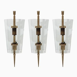 Sconces by Pietro Chiesa for Fontana Arte, 1950s, Set of 3