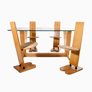 Pala Table and 4 Chairs by Gigi Sabadin for Emme, 1970s