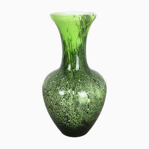 Große Vintage Pop Art Opalglasvase in Grün von Opaline Florence, 1970er