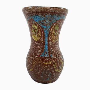 Französische Vintage Keramikvase von Accolay, 1970er