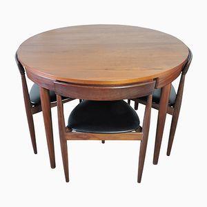 Esstisch und 4 Stühle von Hans Olsen für Frem Røjle, 1950er