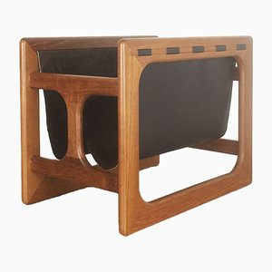 Minimalistic Danish Teak Magazine Rack from Salin Mobler, 1970s
