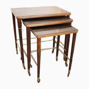 Vintage Nesting Side Tables, Set of 3