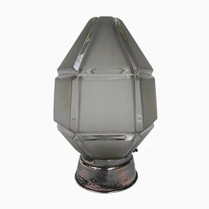 Art Deco Ceiling Lamp with Hexagonal Shade, 1930s
