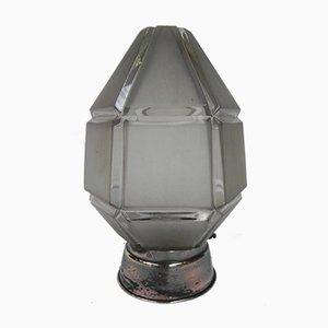 Lámpara de techo Art Déco con pantalla hexagonal, años 30