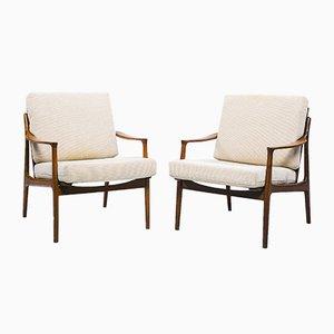 Dänischer Sessel aus Teak & Wolle, 1950er, 2er Set
