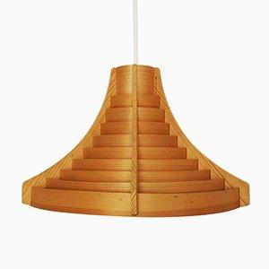 Lampada in legno di Hans-Agne Jakobsson per AB Ellysett Markaryd, anni '60