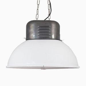 Grande Lampe à Suspension Industrielle Ovale de MESKO, Pologne, 1960s