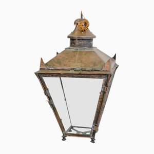 Lanterna antica in rame di W. Parkinson & Co., Regno Unito, inizio XX secolo