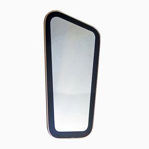 Organischer Spiegel mit schwarzem Rahmen & Goldrand, 1960er