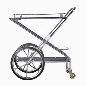 French Folding Bar Cart, 1950s