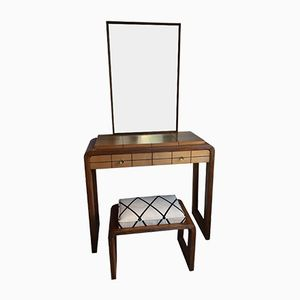 Dressing Table with Mirror & Stool, 1940s