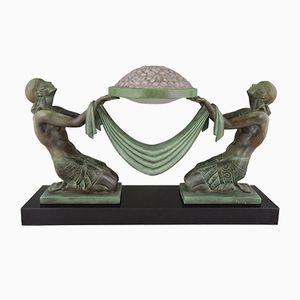 Lampe de Bureau Vintage Sculpturale par Pierre Le Faguays, France, 1930s