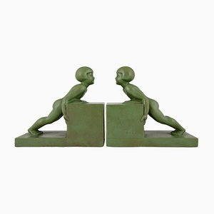 Vintage French Bookends by Janle, 1930s, Set of 2