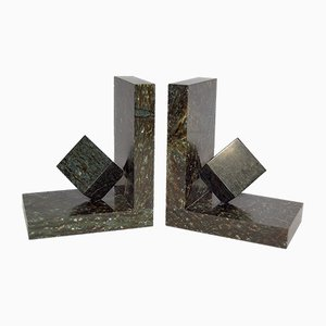Vintage Art Deco Marble Bookends, 1930s, Set of 2
