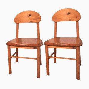 Chaises Vintage en Pin par Rainer Daumiller, 1970s, Set de 2