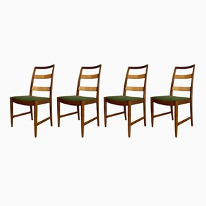 Mid-Century Swedish Oak Chairs by Bertil Fridhagen for Bodafors, 1961, Set of 4