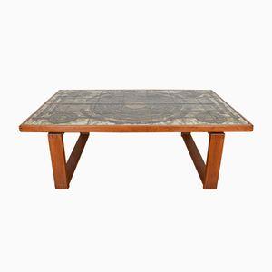 Danish Teak & Ceramic Tile Coffee Table by Ox-Art for Trioh, 1973