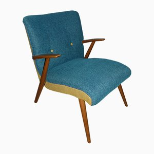 Vintage Blue & Yellow Easy Chair, 1960s