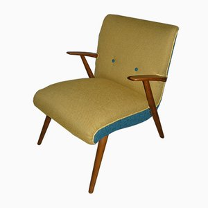 Vintage Yellow & Blue Easy Chair, 1960s