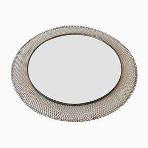 Mid-Century Round Metal Mirror