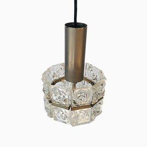 Lampada da soffitto vintage in cristallo di Sölken Leuchten, anni '60