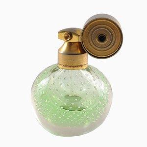 Bottiglietta da profumo vintage in vetro con vaporizzatore di Marcel Franck, anni '30