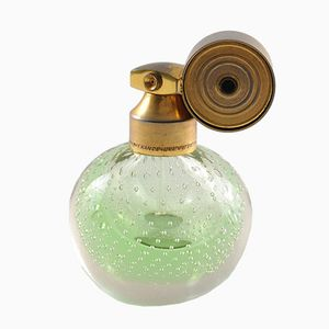 Vintage Glass Perfume Bottle with Atomiser from Marcel Franck, 1930s