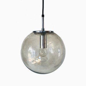 Glass Sphere Pendant Lamp from Limburg, 1970s