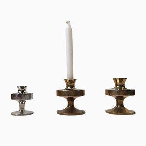 Dänische Mid-Century Kerzenhalter von E.J. Design, 3er Set