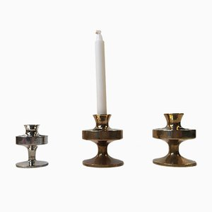 Mid-Century Danish Taper Candle Holders from E.J. Design, Set of 3